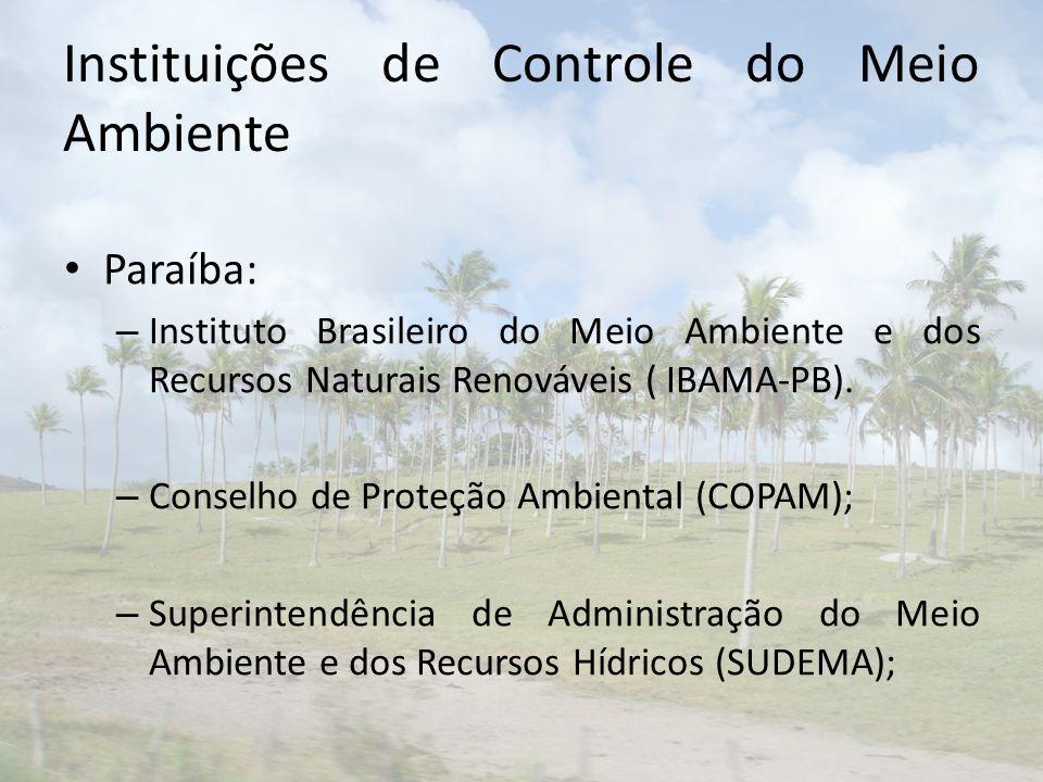 Instituições de Controle do Meio Ambiente