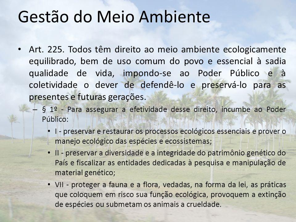 Gestão do Meio Ambiente