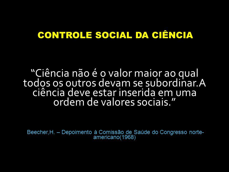 CONTROLE SOCIAL DA CIÊNCIA