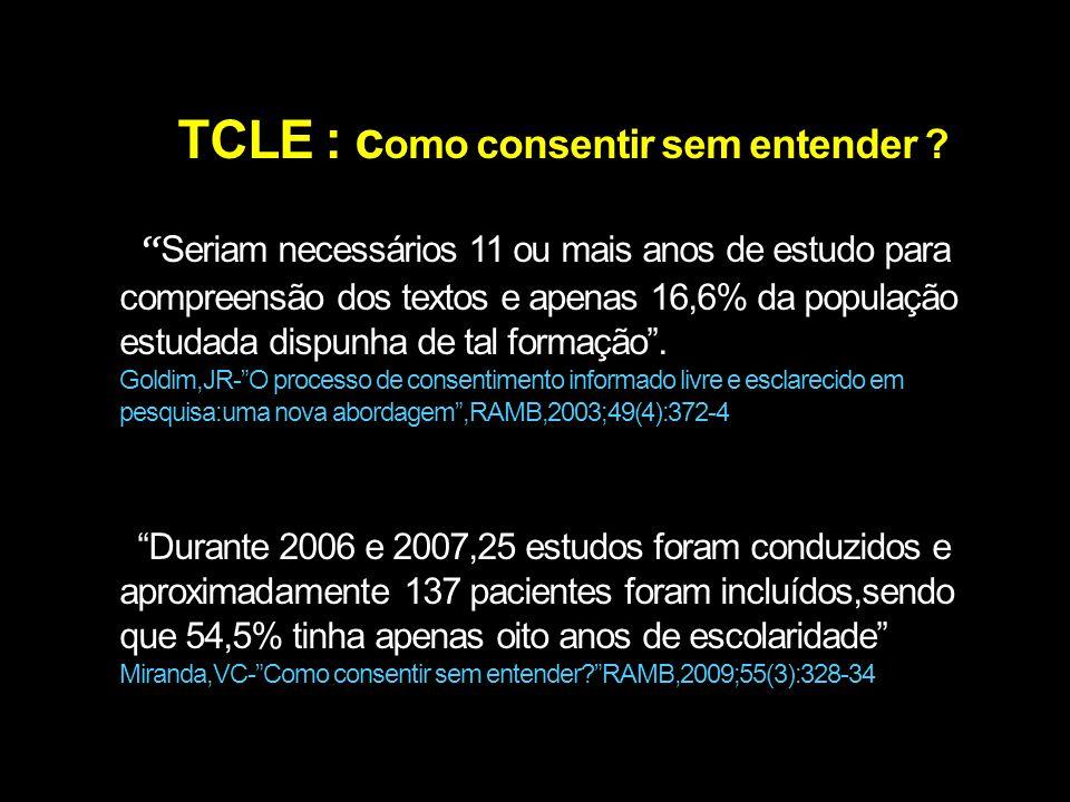 TCLE : como consentir sem entender