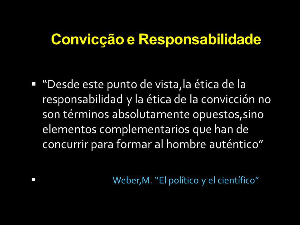 Convicção e Responsabilidade