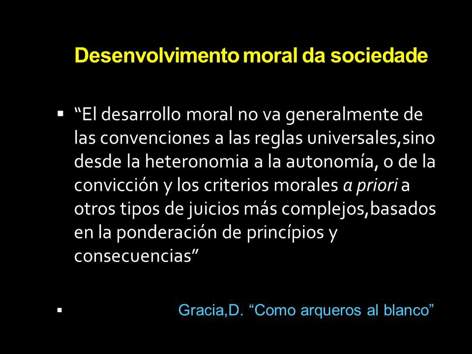 Desenvolvimento moral da sociedade