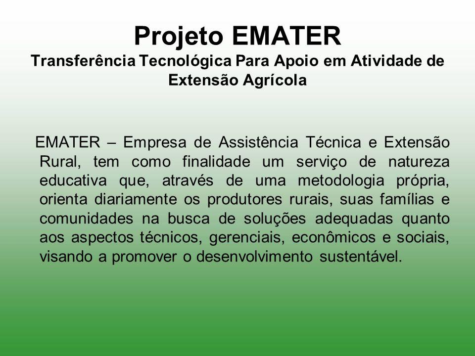 Projeto EMATER Transferência Tecnológica Para Apoio em Atividade de Extensão Agrícola