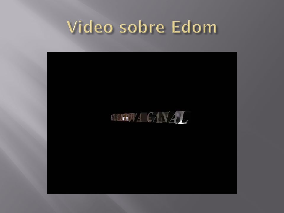 Video sobre Edom