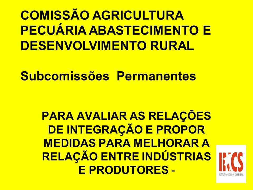 COMISSÃO AGRICULTURA PECUÁRIA ABASTECIMENTO E DESENVOLVIMENTO RURAL
