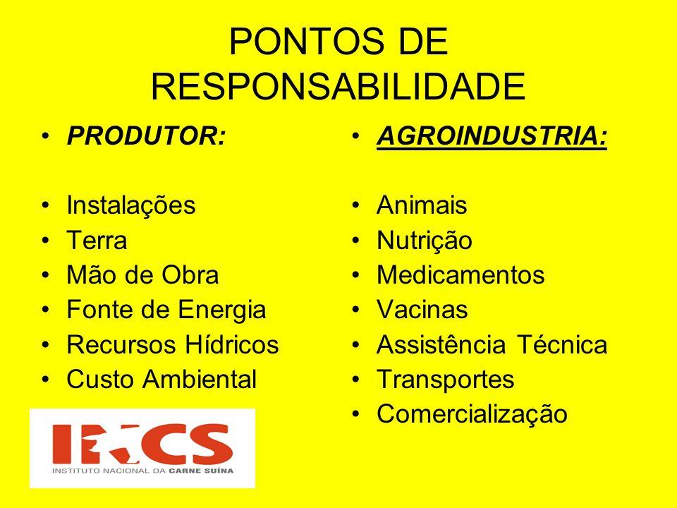 PONTOS DE RESPONSABILIDADE