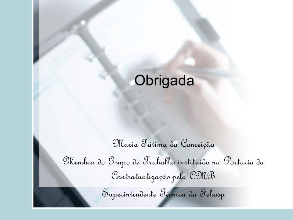 Obrigada Maria Fátima da Conceição