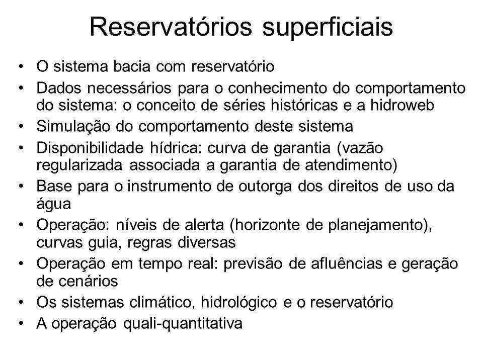 Reservatórios superficiais