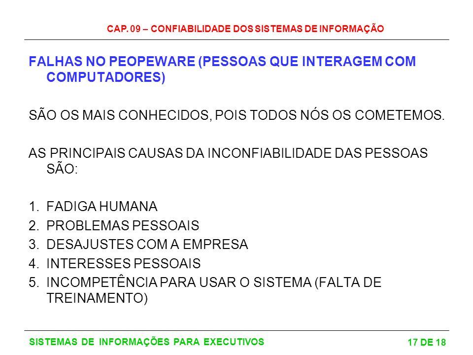 FALHAS NO PEOPEWARE (PESSOAS QUE INTERAGEM COM COMPUTADORES)