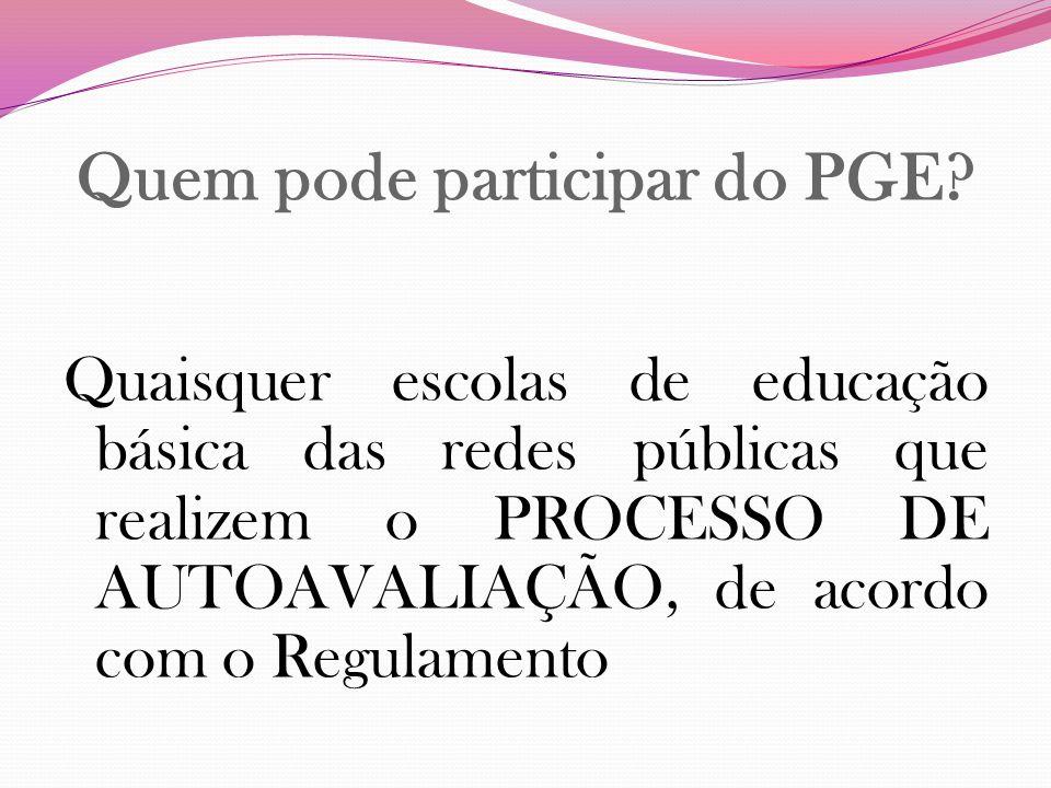 Quem pode participar do PGE