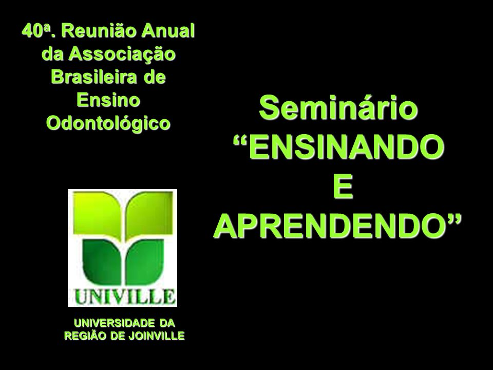 Seminário ENSINANDO E APRENDENDO