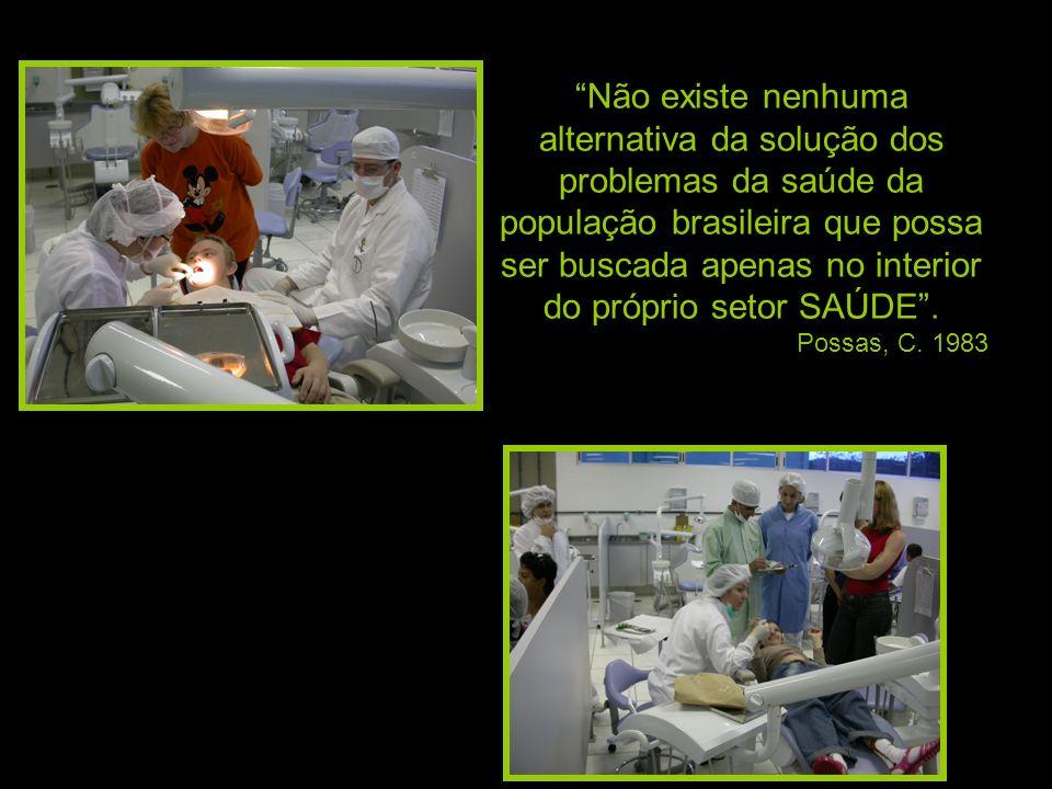 Não existe nenhuma alternativa da solução dos problemas da saúde da população brasileira que possa ser buscada apenas no interior do próprio setor SAÚDE .