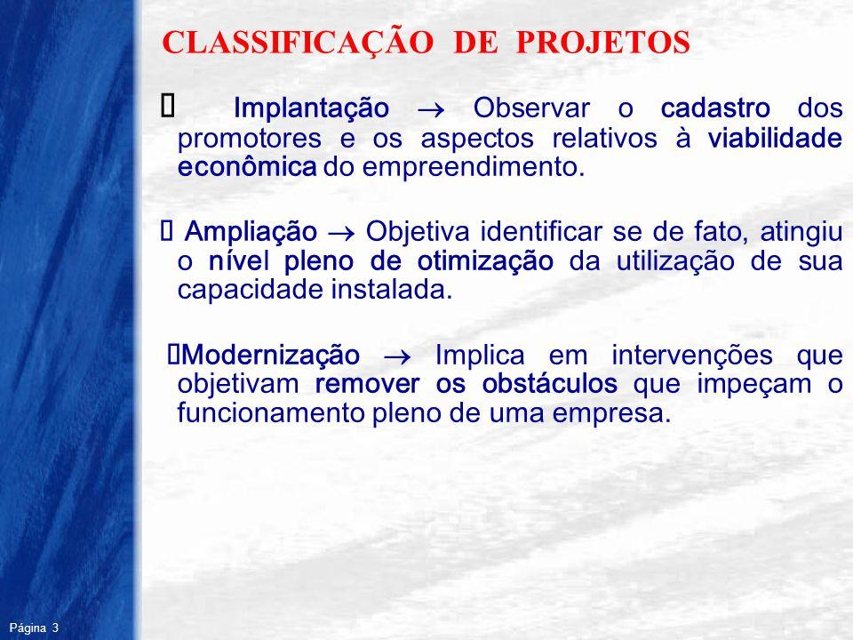 CLASSIFICAÇÃO DE PROJETOS