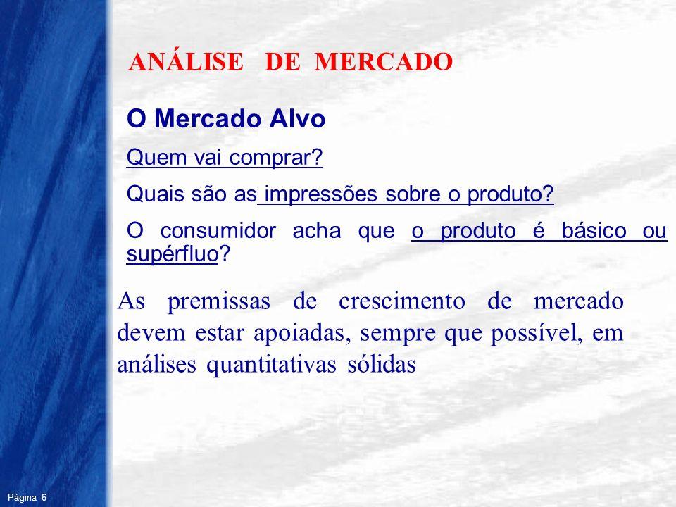 ANÁLISE DE MERCADO O Mercado Alvo