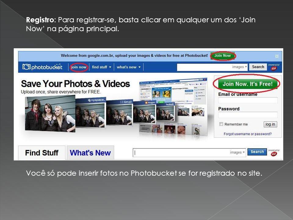 Registro: Para registrar-se, basta clicar em qualquer um dos 'Join Now' na página principal.