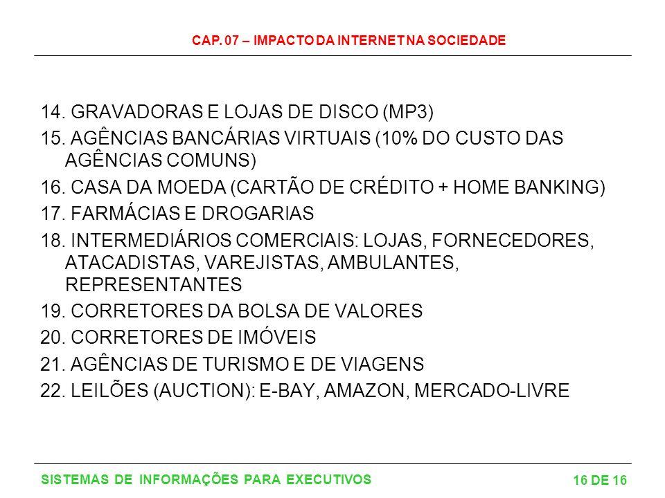 14. GRAVADORAS E LOJAS DE DISCO (MP3)