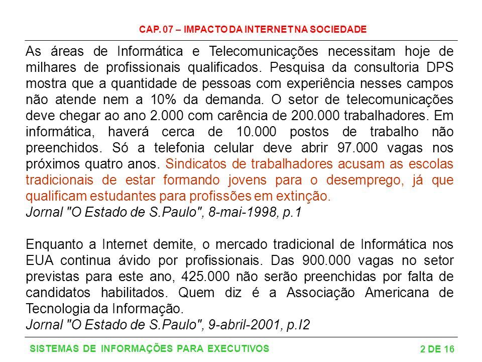 Jornal O Estado de S.Paulo , 8-mai-1998, p.1