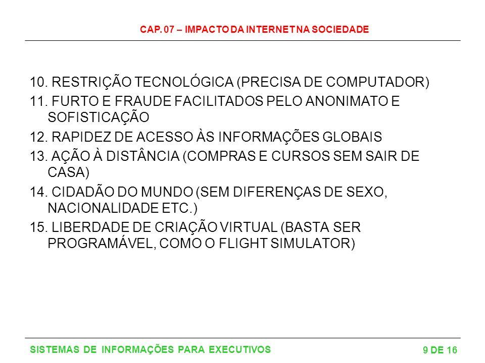 10. RESTRIÇÃO TECNOLÓGICA (PRECISA DE COMPUTADOR)