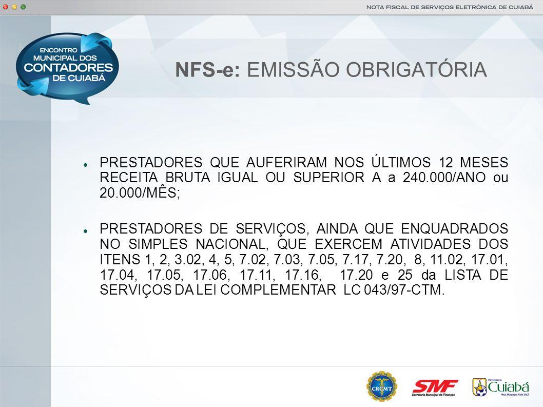 NFS-e: EMISSÃO OBRIGATÓRIA