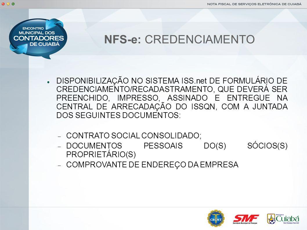 NFS-e: CREDENCIAMENTO