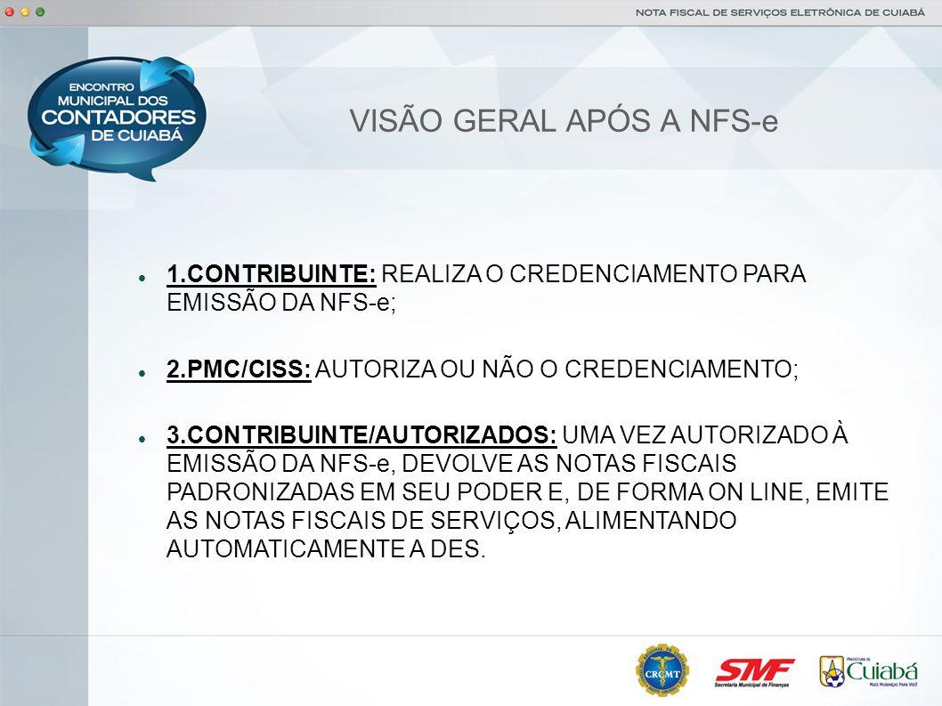 VISÃO GERAL APÓS A NFS-e