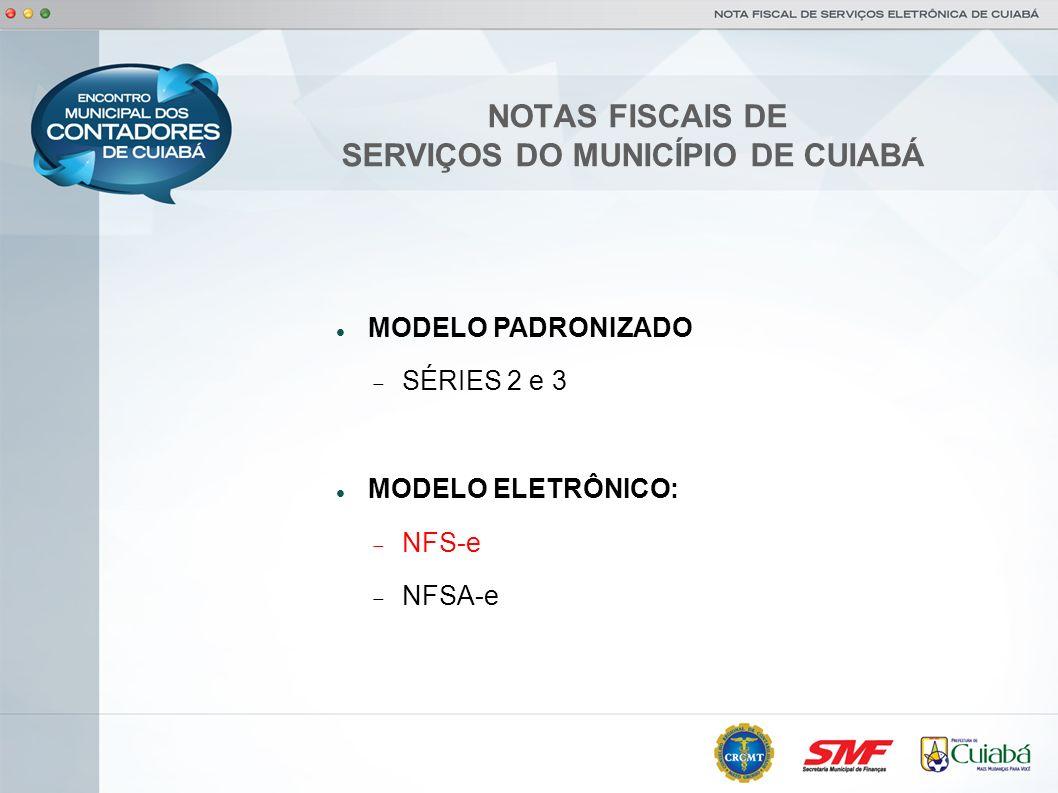 NOTAS FISCAIS DE SERVIÇOS DO MUNICÍPIO DE CUIABÁ