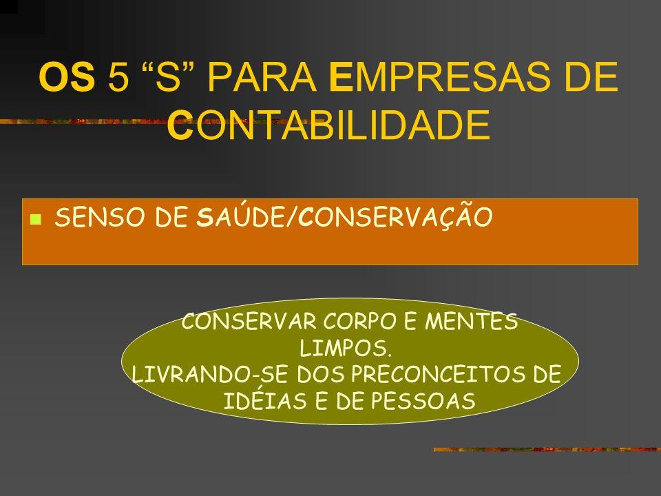 OS 5 S PARA EMPRESAS DE CONTABILIDADE