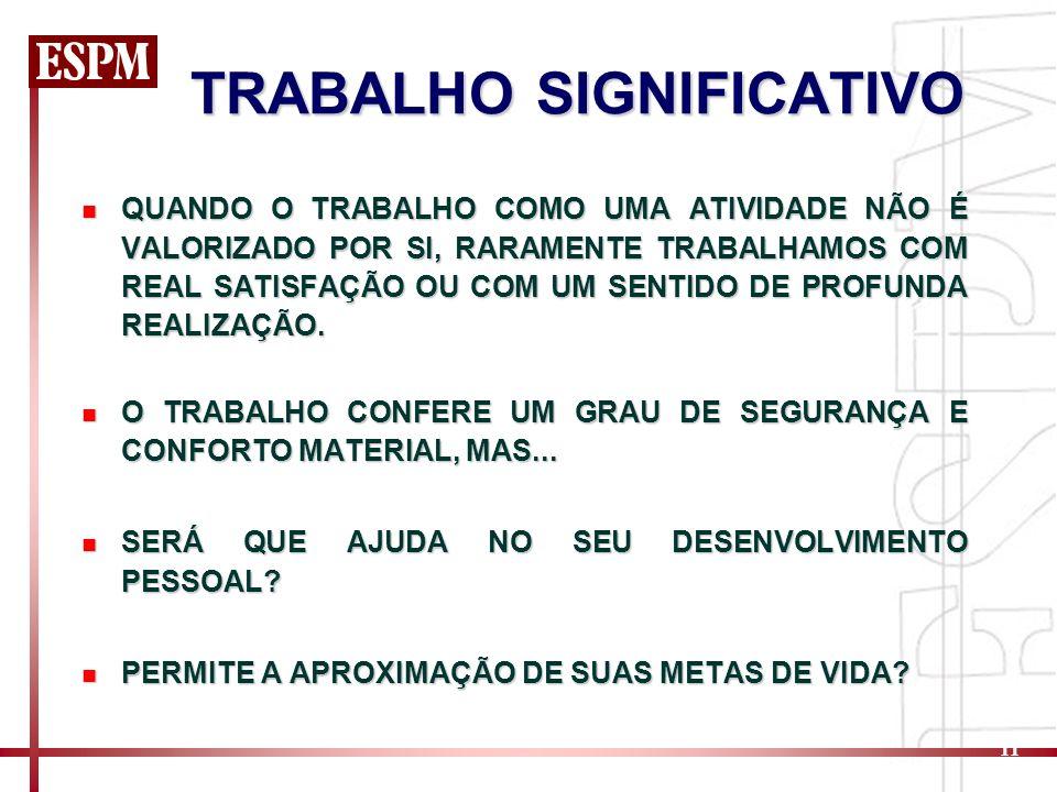 TRABALHO SIGNIFICATIVO