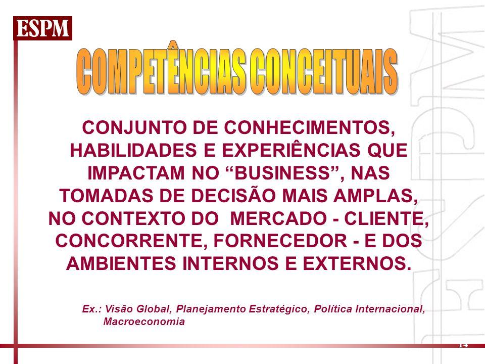 COMPETÊNCIAS CONCEITUAIS
