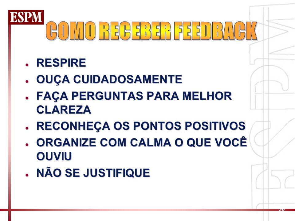 COMO RECEBER FEEDBACK RESPIRE OUÇA CUIDADOSAMENTE