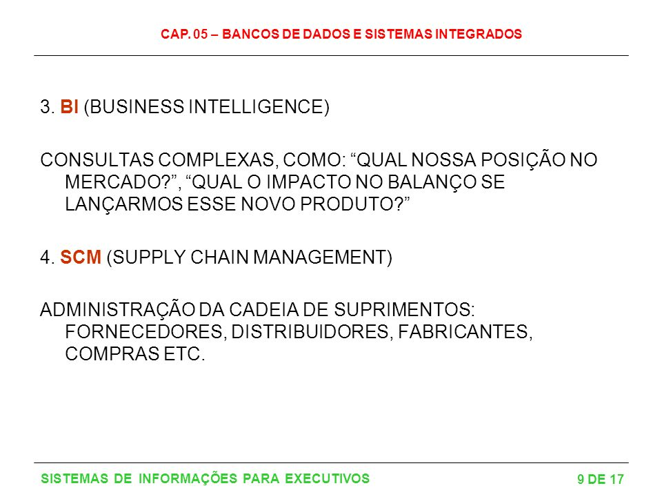 3. BI (BUSINESS INTELLIGENCE)