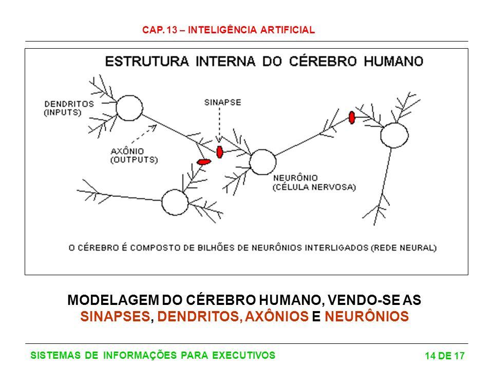MODELAGEM DO CÉREBRO HUMANO, VENDO-SE AS SINAPSES, DENDRITOS, AXÔNIOS E NEURÔNIOS