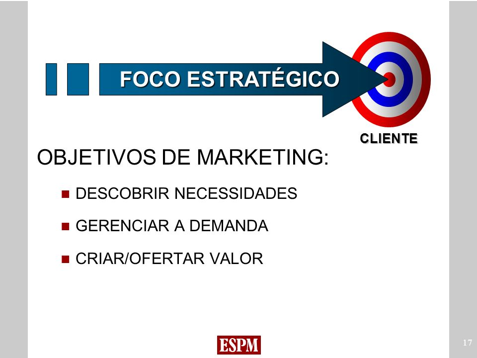 OBJETIVOS DE MARKETING: