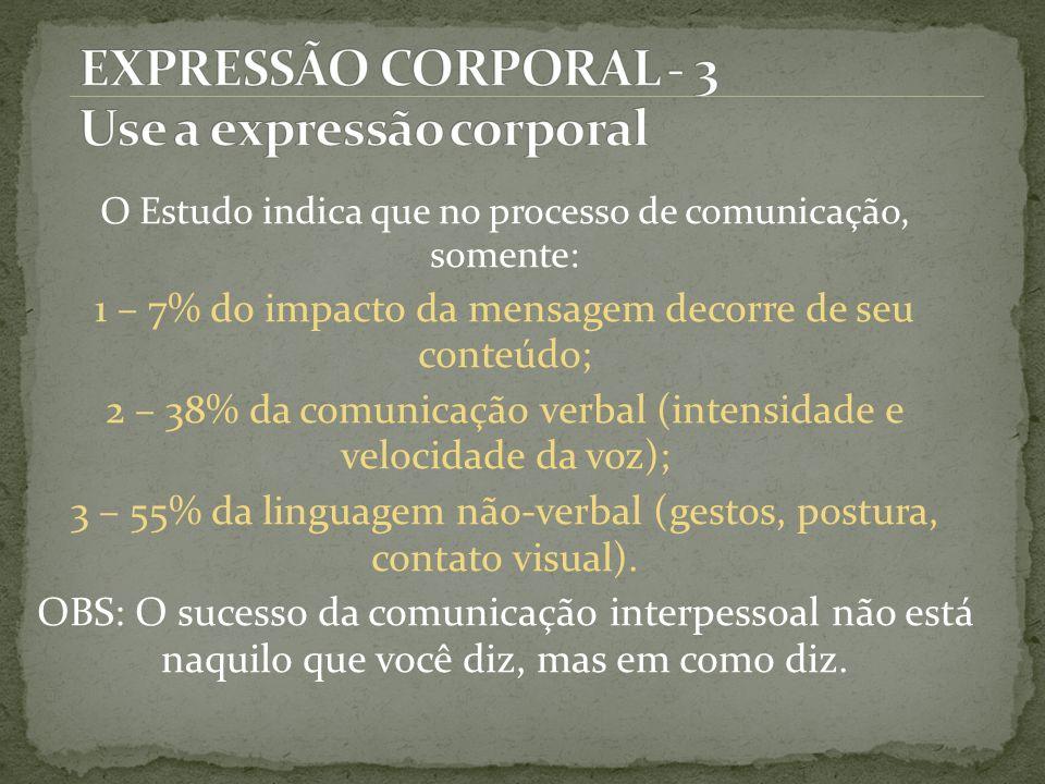 EXPRESSÃO CORPORAL - 3 Use a expressão corporal