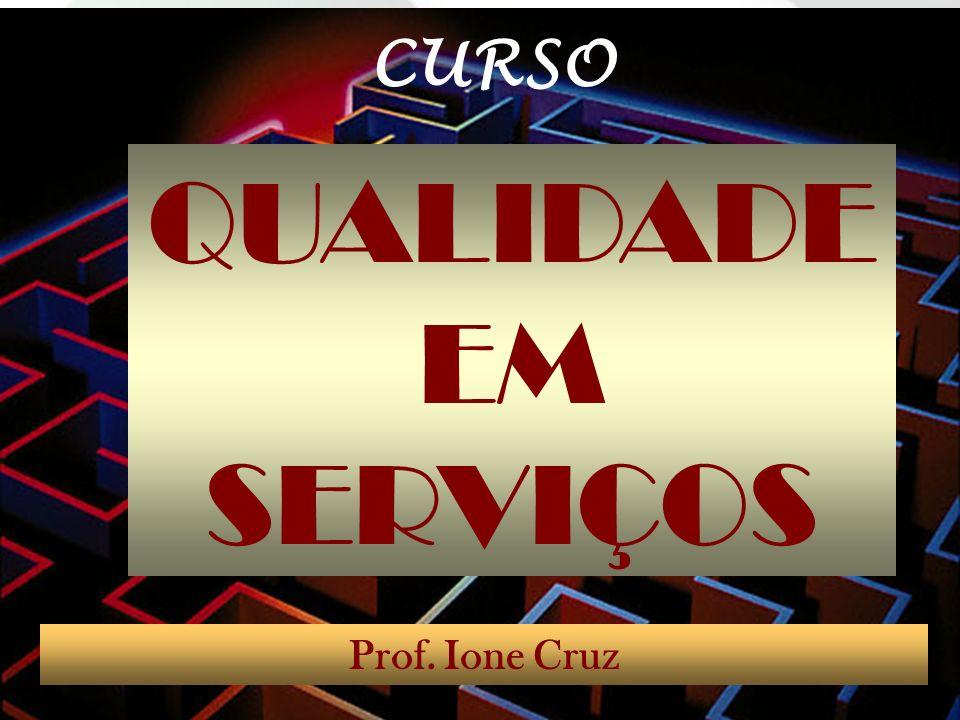 CURSO QUALIDADE EM SERVIÇOS Prof. Ione Cruz