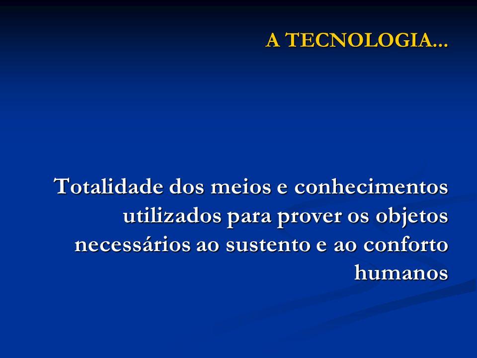 A TECNOLOGIA...