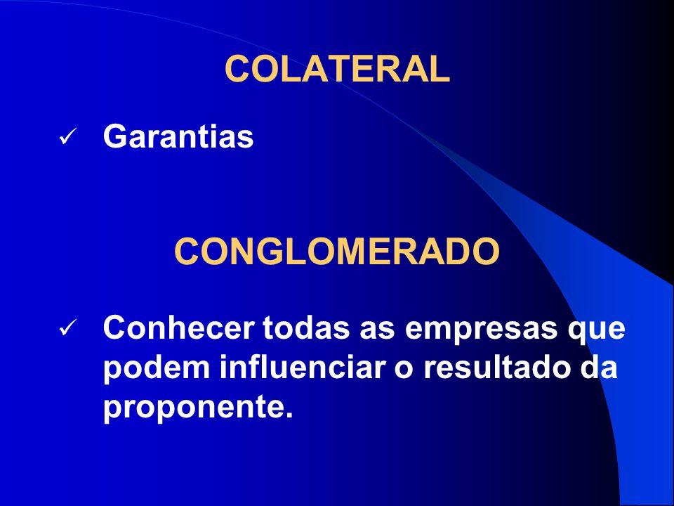 COLATERAL CONGLOMERADO Garantias