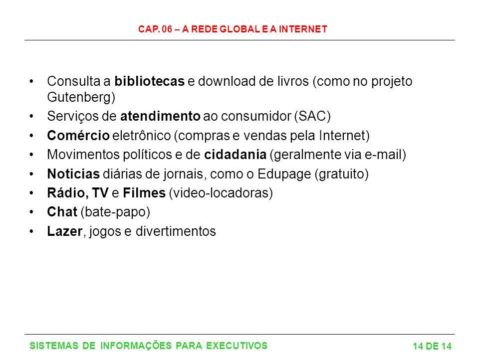 Serviços de atendimento ao consumidor (SAC)