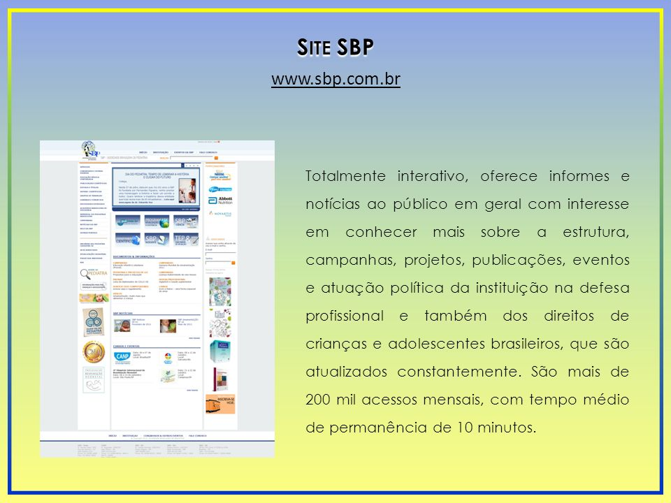 Site SBP www.sbp.com.br.