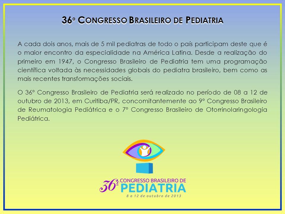 36º Congresso Brasileiro de Pediatria
