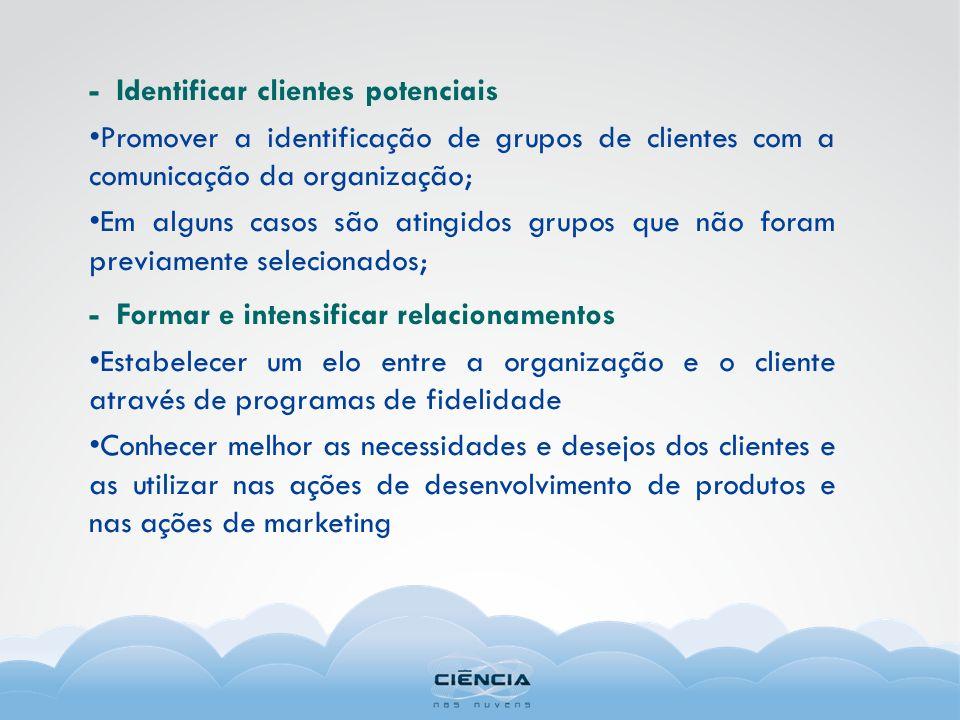 - Identificar clientes potenciais