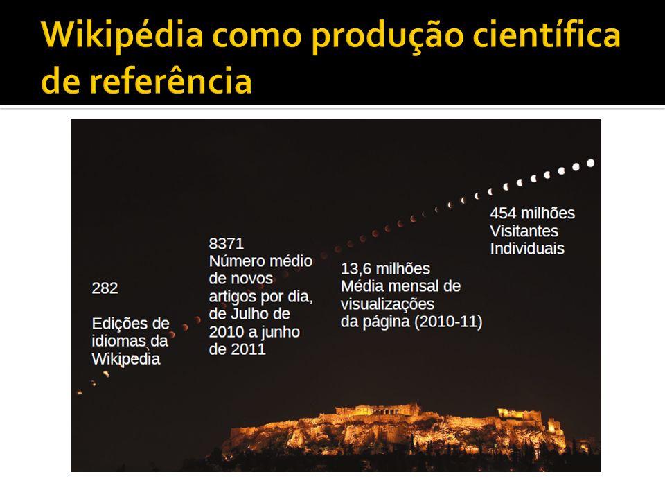 Wikipédia como produção científica de referência