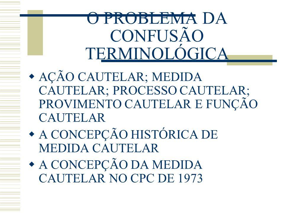 O PROBLEMA DA CONFUSÃO TERMINOLÓGICA