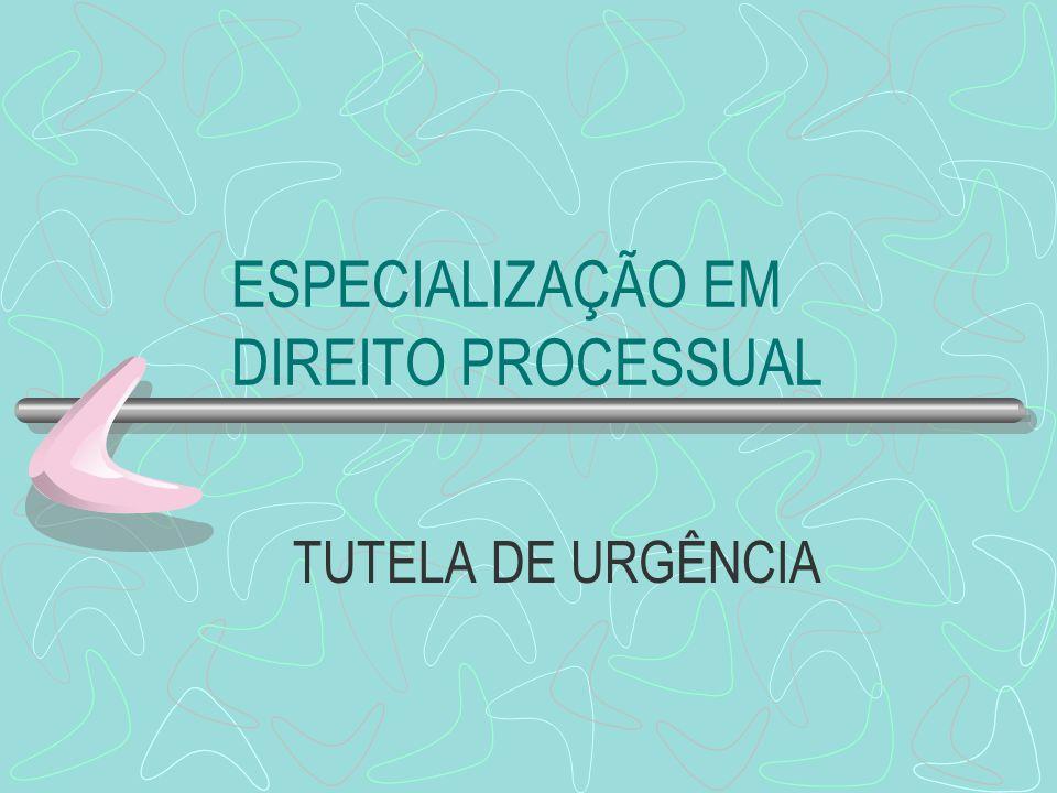 ESPECIALIZAÇÃO EM DIREITO PROCESSUAL