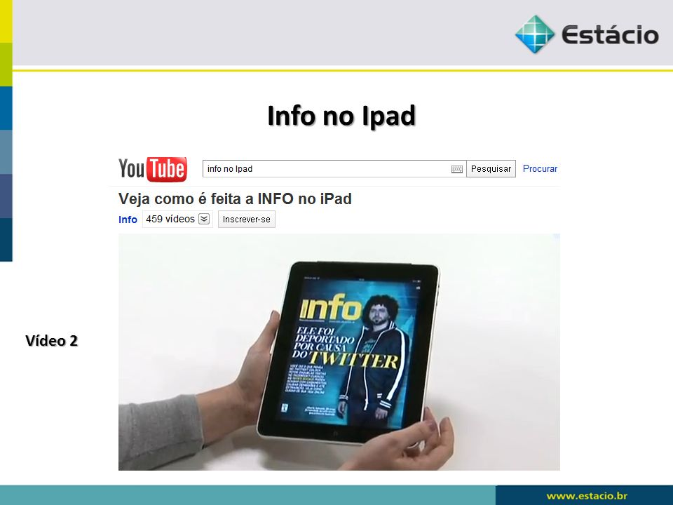 Info no Ipad Vídeo 2