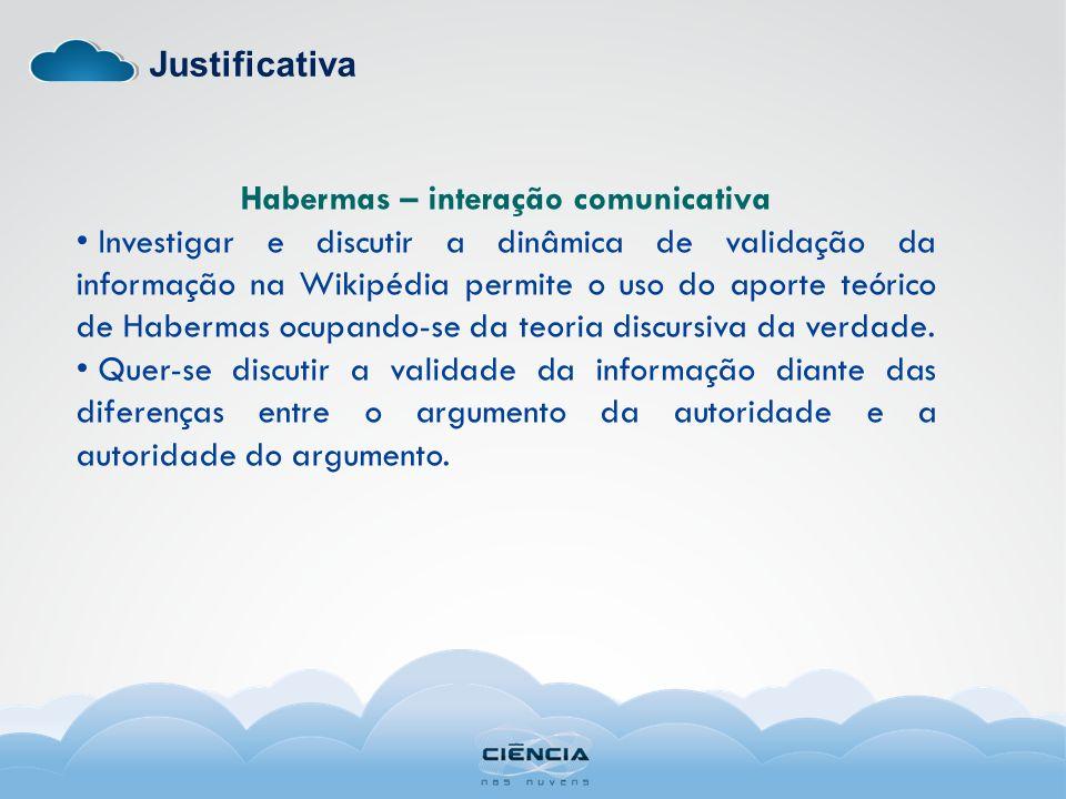 Habermas – interação comunicativa
