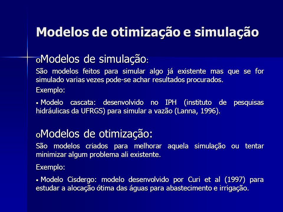Modelos de otimização e simulação