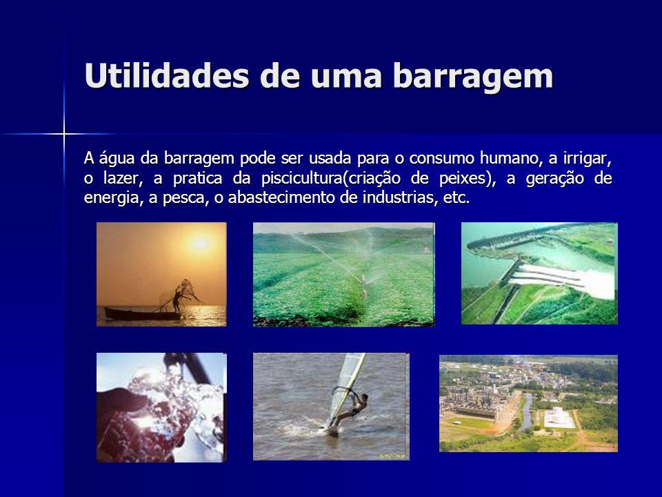 Utilidades de uma barragem