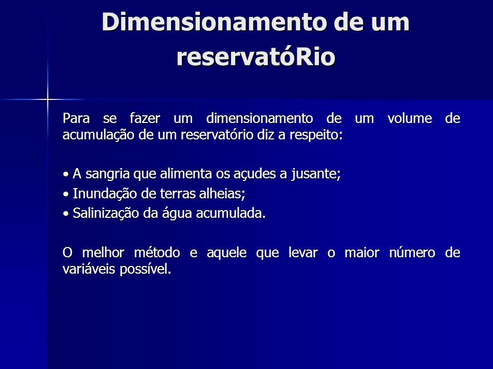 Dimensionamento de um reservatóRio