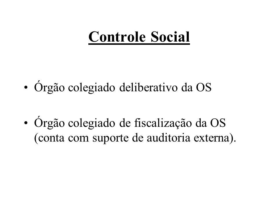 Controle Social Órgão colegiado deliberativo da OS